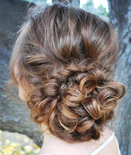 Low Lopped Bun Updo