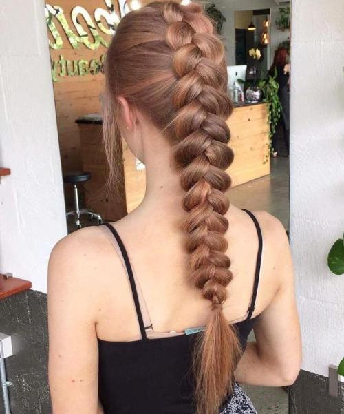 Mohawk Dutch Braid For Long Hair