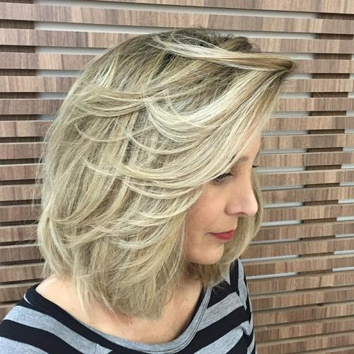 long bob for thick hair