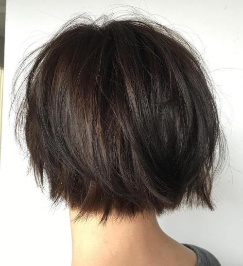 Short Razored Bob For Straight Hair