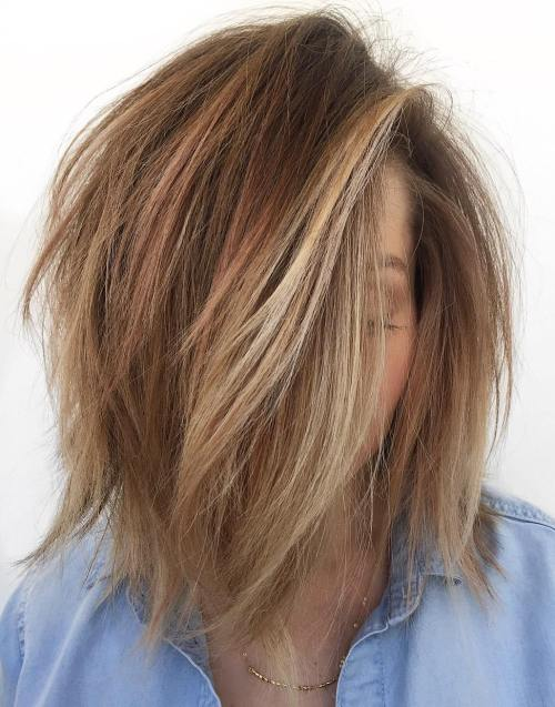 Voluminous Disheveled Bob Hairstyle
