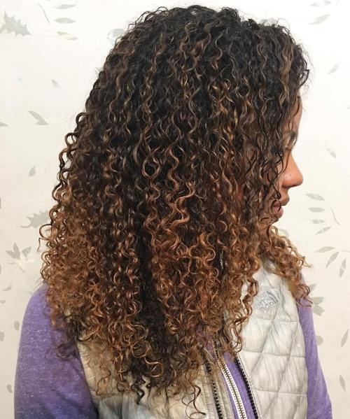 Light Brown Balayage For Natural Hair