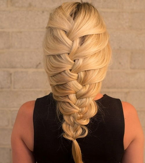 Very loose French braid