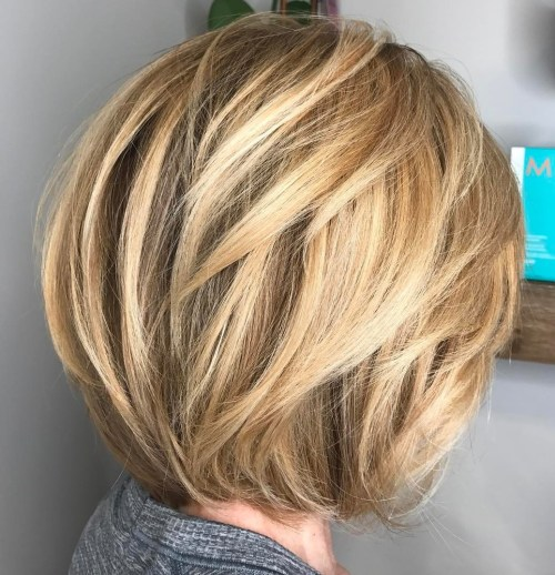 Short Haircut With Angled Layers