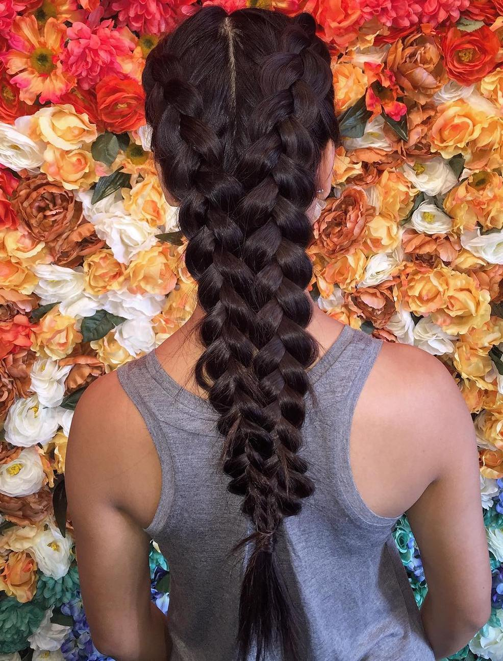 Two Dutch Braids For Long Hair