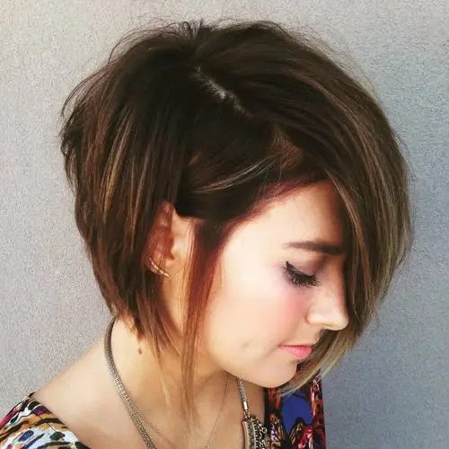 asymmetrical choppy bob