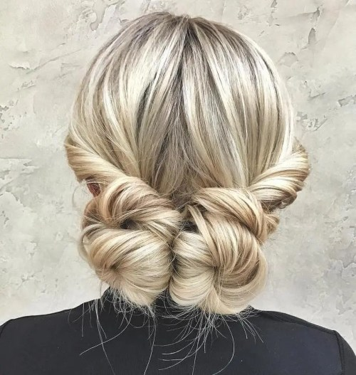 Pigtail Buns Updo