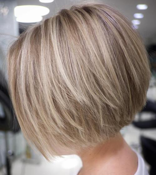 Short Layered Blonde Bob Blowout