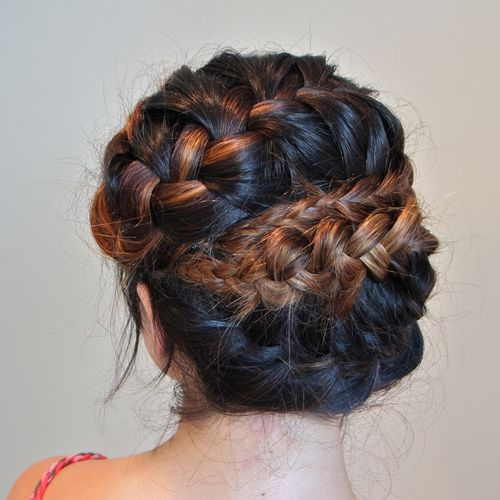 Cute French braid updo