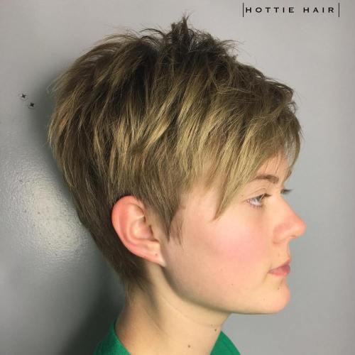 Layered Tapered Pixie