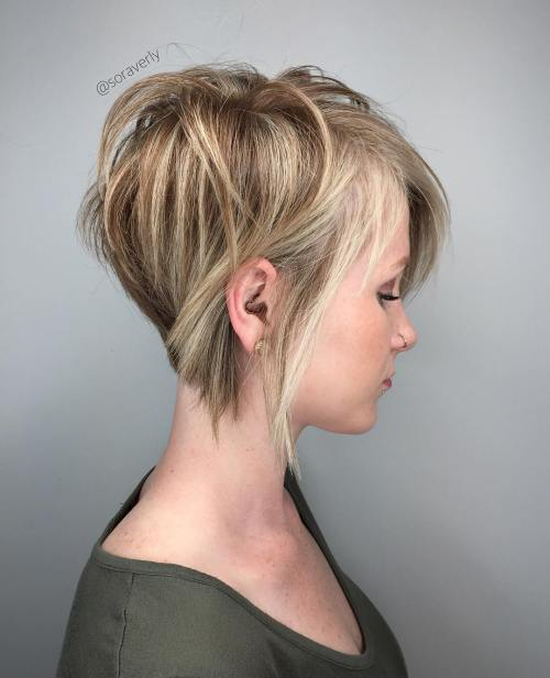 50 cute and easy to style short layered hairstyles long blonde pixie with highlights urmus Choice Image