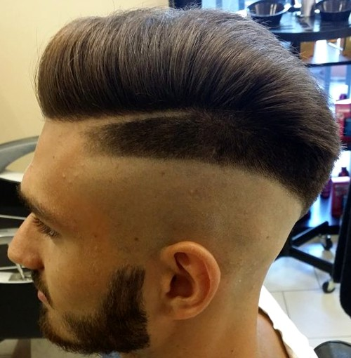 shaved sides hairstyle for men