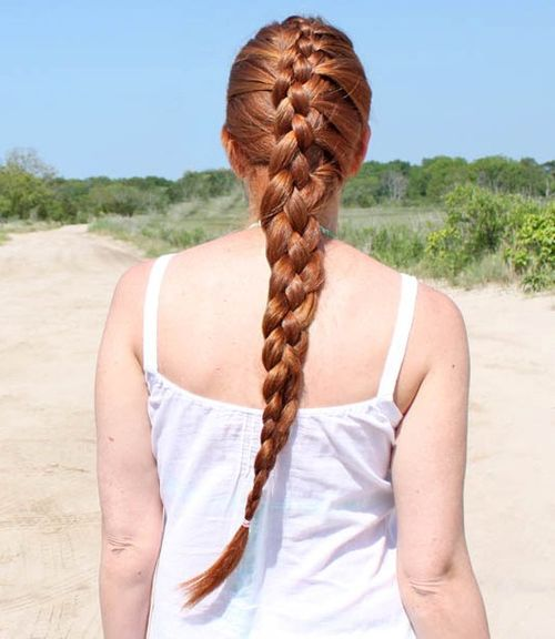 4-strand French braid for long hair