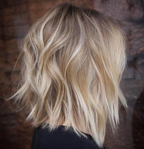 Choppy Bronde Lob