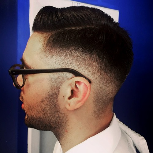 side parted face haircut for men