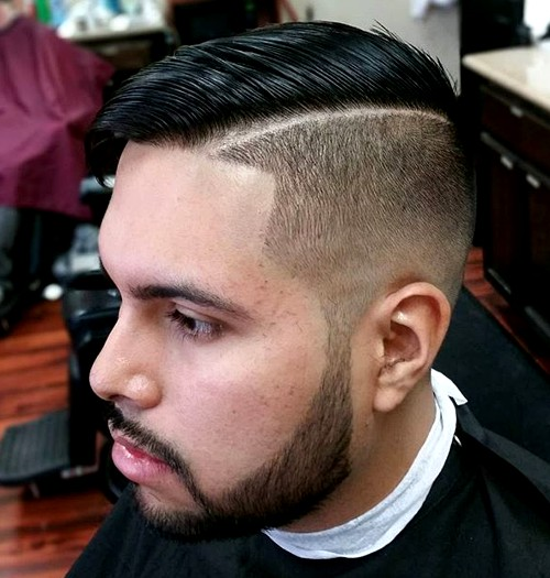 half shaved side part hairstyle for men