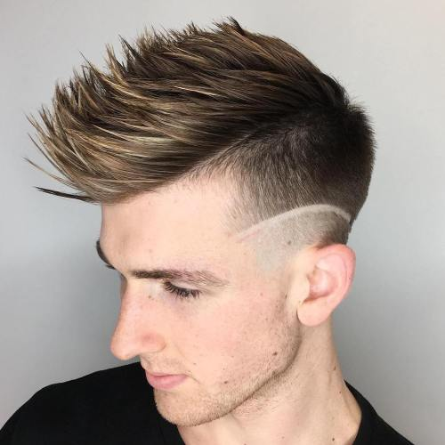 30 spiky hairstyles for men in modern interpretation choppy spiky fauxhawk with undercut urmus Image collections