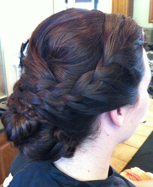 sophisticated braided updo for long hair