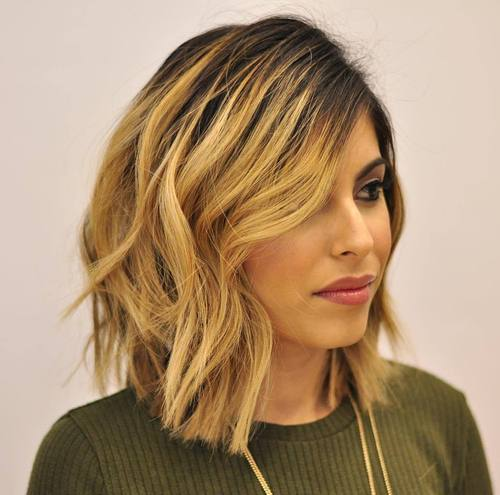 choppy long bob haircut