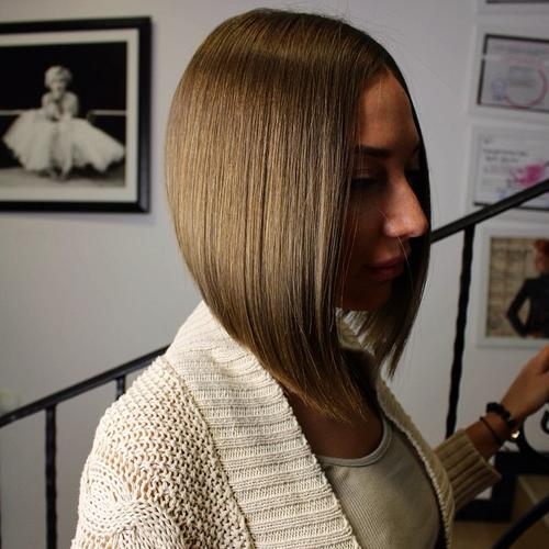 Cute angled bob haircut