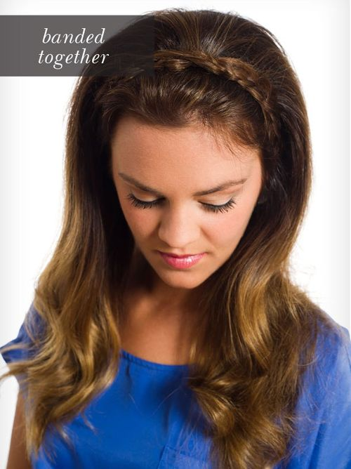 simple braided headband hairstyle