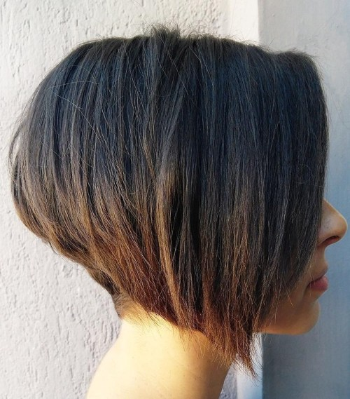 Inverted Bob for Straight Hair