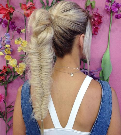 Long Fishtailed Ponytail