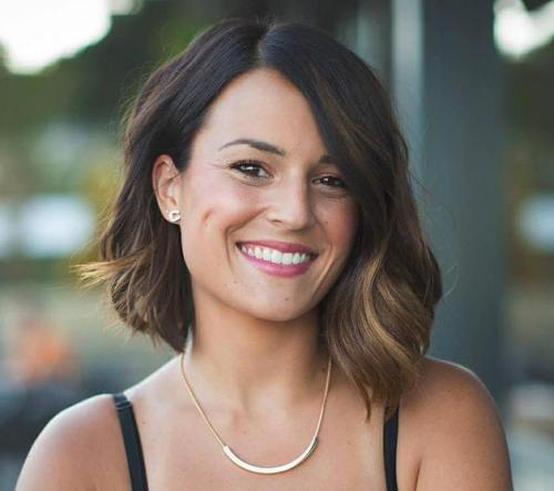 asymmetrical bob for thick hair
