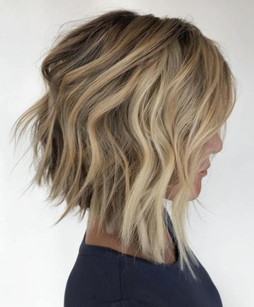 Inverted Blonde Bob With Choppy Layers