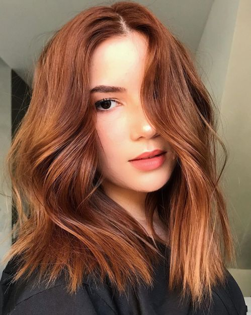 Wavy Razored Lob For Thick Hair