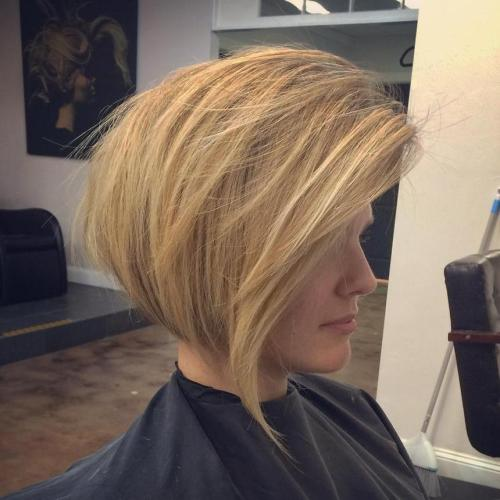 Golden Blonde Tousled Bob