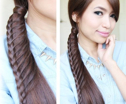 fancy side braided ponytail