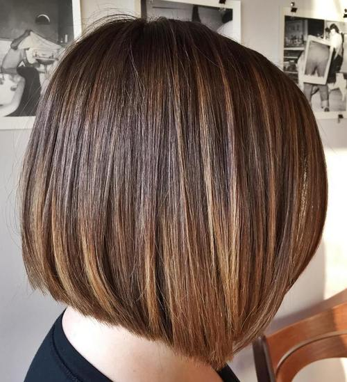 blunt cut bob with ombre highlights
