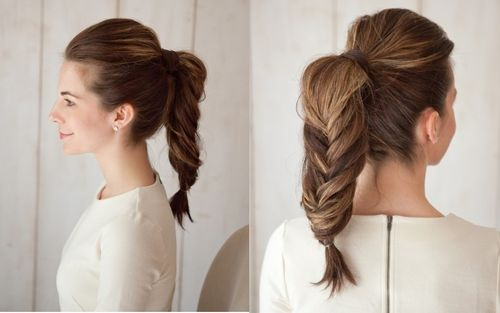fishtailed ponytail