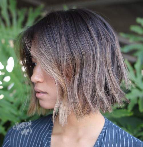 Ash Brown Shaggy Bob