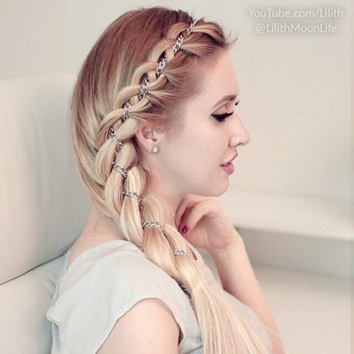 Ribbon Braid With A Chain