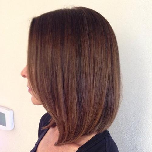 Cute long bob haircut
