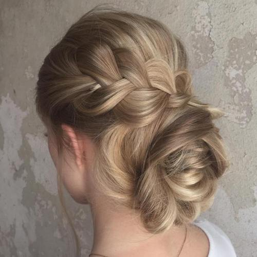Loopy Bun With A Braid
