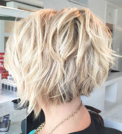 Short Blonde Shaggy Bob