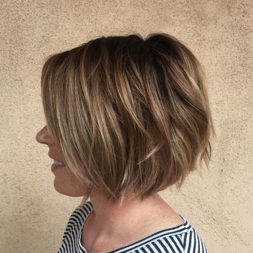 Textured Chin-Length Bob