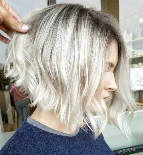 40 new short bob haircuts and hairstyles for women in 2017 blonde wavy angled bob urmus Image collections