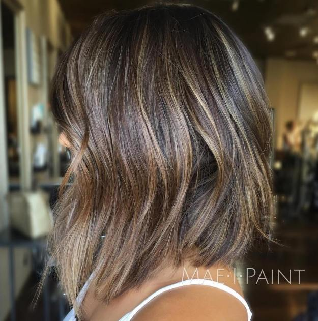 Choppy Long Bob With Subtle Balayage