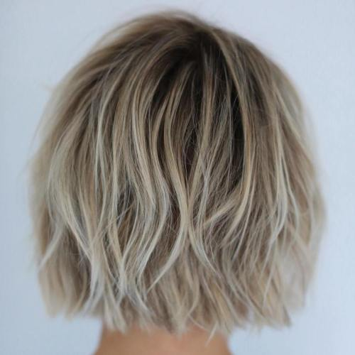 Tousled Blonde Bob Hairstyle