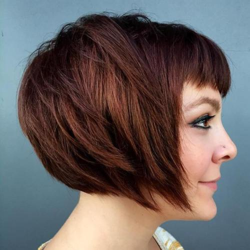40 new short bob haircuts and hairstyles for women in 2017 short chestnut brown bob urmus Choice Image