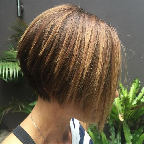 Short Chopped Brown Balayage Bob