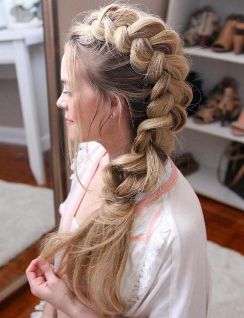Side Messy Braid For Long Hair