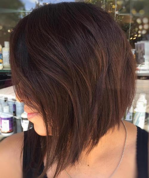 Angled Layered Bob Haircut
