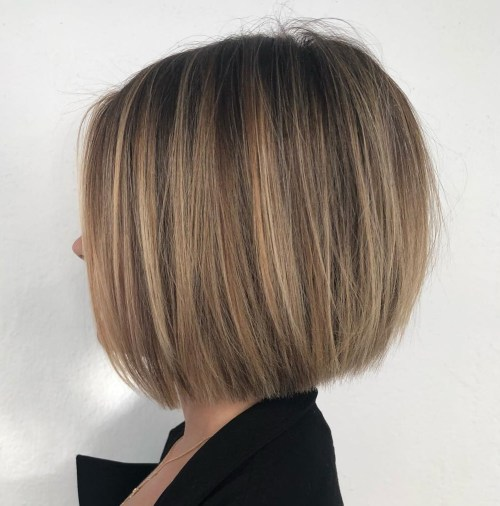 Straight Medium Length Bob