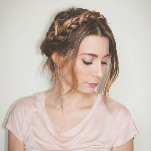 easy milkmaid braid updo