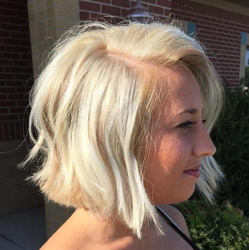 blonde tousled bob hairstyle